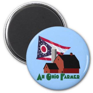 Ohio Farmer 6 Cm Round Magnet