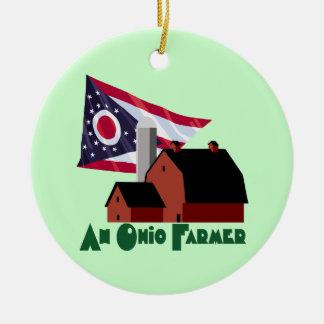 Ohio Farmer Christmas Ornament
