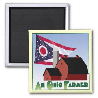Ohio Farmer Square Magnet
