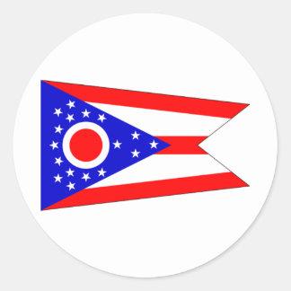 Ohio FLAG International Round Sticker