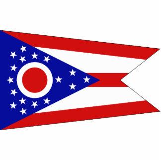 Ohio Flag Keychain Cut Out