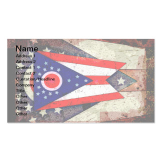 OHIO FLAG PACK OF STANDARD BUSINESS CARDS