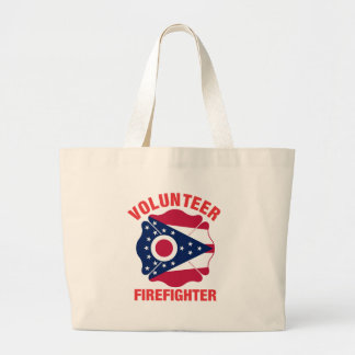 Ohio Flag Volunteer Firefighter Cross Canvas Bags