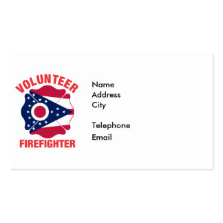 Ohio Flag Volunteer Firefighter Cross Pack Of Standard Business Cards