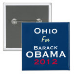 OHIO For OBAMA 2012 Campaign Button