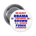 Ohio for Obama Brown Fudge Buttons