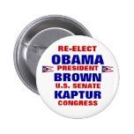 Ohio for Obama Brown Kaptur Buttons