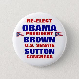 Ohio for Obama Brown Sutton 6 Cm Round Badge