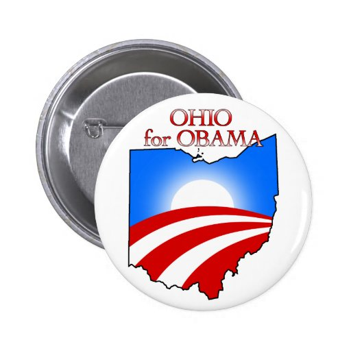 Ohio for Obama Pinback Buttons