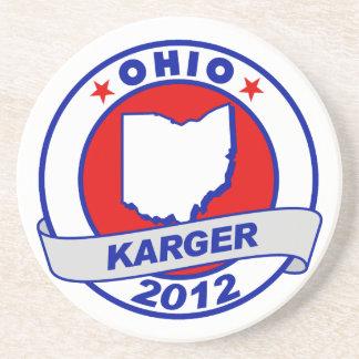Ohio Fred Karger Beverage Coasters