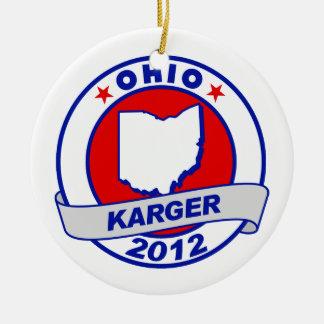 Ohio Fred Karger Christmas Tree Ornament