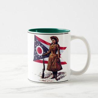 Ohio Girl, Annie Oakley Two-Tone Mug