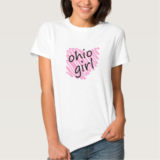 Ohio Girl with Scribbled Ohio Map Shirts