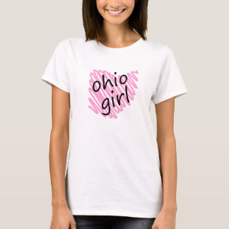 Ohio Girl with Scribbled Ohio Map T-Shirt