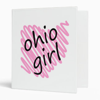 Ohio Girl with Scribbled Ohio Map Vinyl Binders