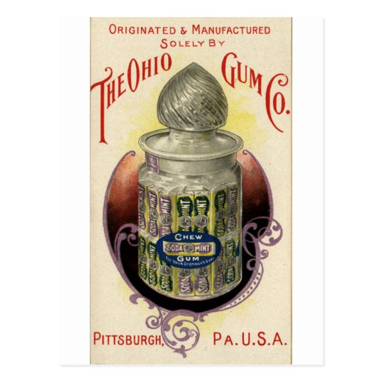 Ohio Gum Postcard