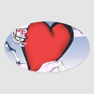ohio head heart, tony fernandes oval sticker