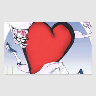 ohio head heart, tony fernandes rectangular sticker
