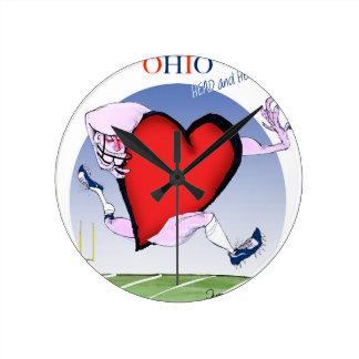 ohio head heart, tony fernandes round clock