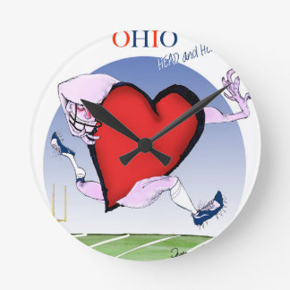 ohio head heart, tony fernandes wall clocks