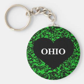 Ohio Heart Green Key Ring