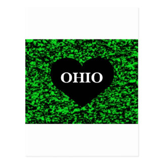 Ohio Heart Green Postcard