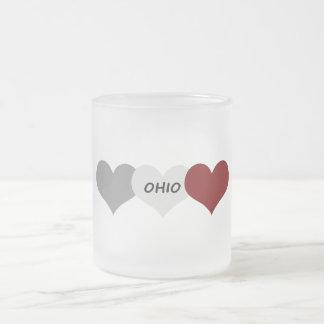 Ohio Heart Frosted Glass Mug