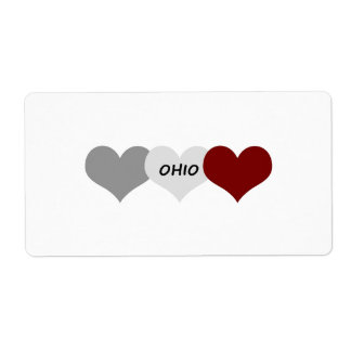 Ohio Heart Shipping Label