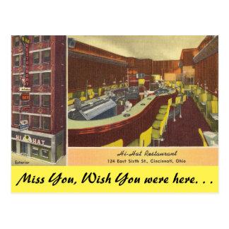 Ohio, Hi-Hat Restaurant, Cincinnati Postcard