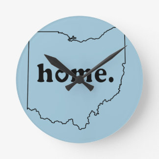 Ohio Home Round Clock