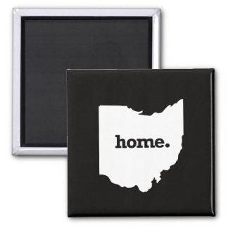 Ohio Home Square Magnet