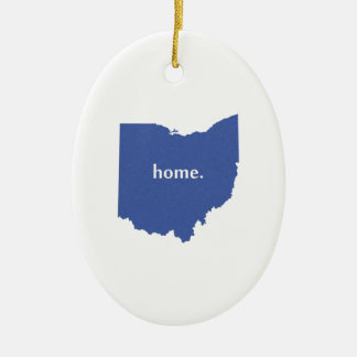 Ohio Home State Christmas Ornament