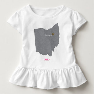 OHIO Home Town Personalized Map Toddler T-Shirt
