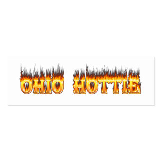 ohio hottie flame and fire pack of skinny business cards