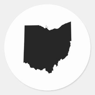 Ohio in Black and White Classic Round Sticker