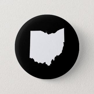 Ohio in White and Black 6 Cm Round Badge