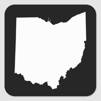 Ohio in White and Black Square Sticker