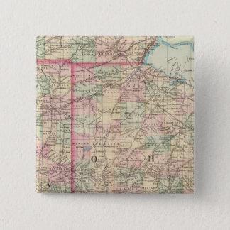 Ohio, Indiana 2 15 Cm Square Badge