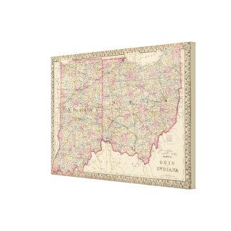Ohio, Indiana 2 Canvas Print