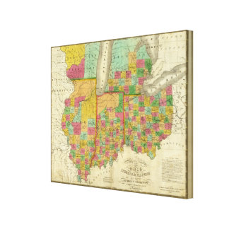 Ohio, Indiana, and Illinois Canvas Print