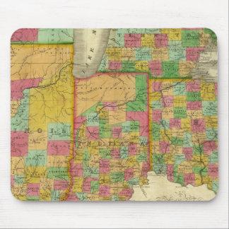 Ohio, Indiana, and Illinois Mouse Mat