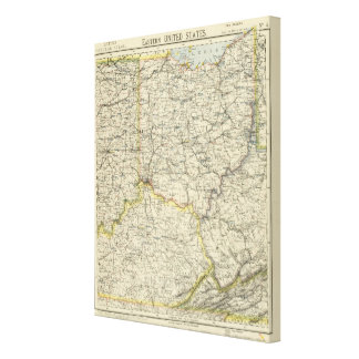 Ohio, Indiana, Kentucky, West Virginia Canvas Print
