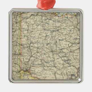 Ohio, Indiana, Kentucky, West Virginia Christmas Ornament