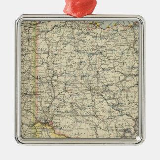 Ohio, Indiana, Kentucky, West Virginia Christmas Ornament