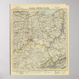 Ohio, Indiana, Kentucky, West Virginia Poster