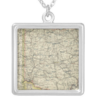 Ohio, Indiana, Kentucky, West Virginia Silver Plated Necklace