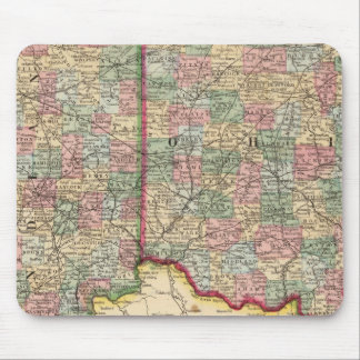 Ohio, Indiana Map by Mitchell Mouse Mat