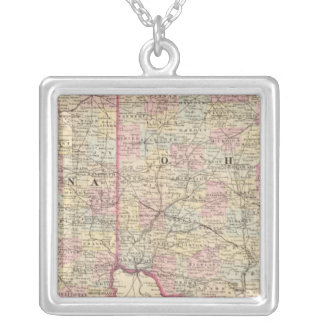 Ohio, Indiana Silver Plated Necklace