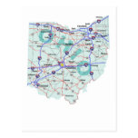 Ohio Interstate Map Postcard