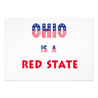 Ohio is a Red State Invitations